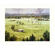 From Streeton Lookout, Freemans Reach Art Print