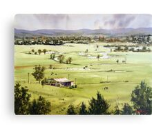 From Streeton Lookout, Freemans Reach Metal Print