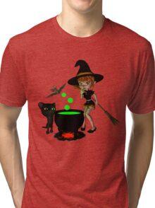 Cauldron Witch Shirts & Stickers Tri-blend T-Shirt