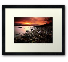 Sun kissed rocks Framed Print