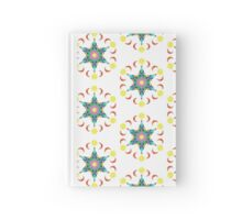 Pattern 516 - Green, Yellow, Red, Purple, White, and Blue Hardcover Journal