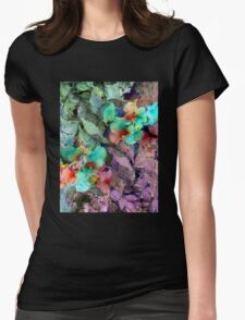 Floral Womens Fitted T-Shirt