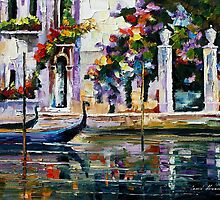 Venice - Original Art Oil Painting By Leonid Afremov by Leonid  Afremov