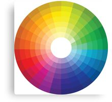 Color Wheel 1 - Colour Wheel 1 Canvas Print