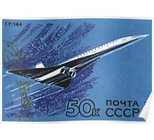 The Soviet Union 1969 CPA 3835 stamp from sheet Supersonic Transport Aircraft Tupolev Tu 144 31121968 Signs of the Zodiac USSR Poster