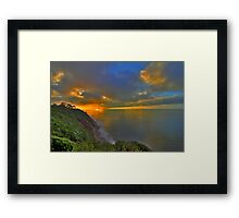 October Sunrise in Santa Barbara Framed Print
