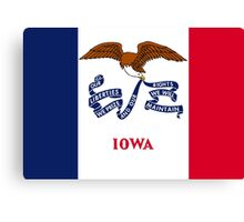 State Flags of the United States of America -  Iowa Canvas Print