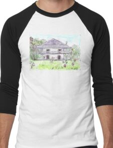 Doctor's House, Old Leprosy Colony, Curieuse Island Men's Baseball ¾ T-Shirt