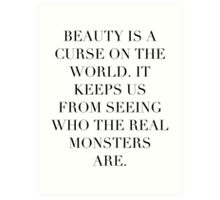 Simplistic Quote - On: Beauty Art Print