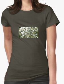 Green Abstraction Scenery. Womens Fitted T-Shirt