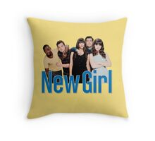 new girl | idiots Throw Pillow