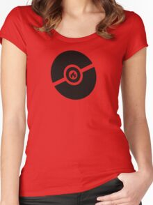 Pokemon Pokeball Fire  Women's Fitted Scoop T-Shirt
