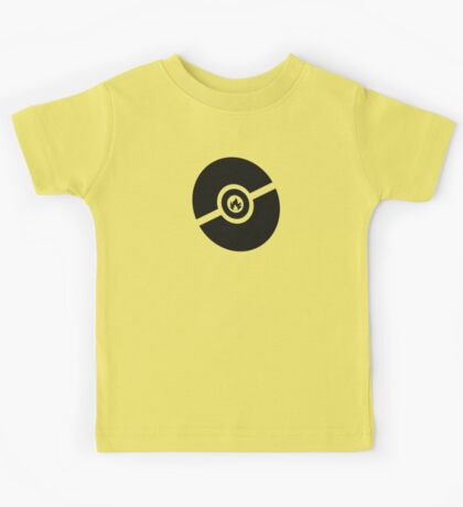 Pokemon Pokeball Fire  Kids Tee