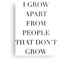 Simplistic Quote - On: Growth Metal Print