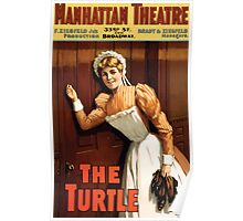 Poster 1890s The turtle Broadway poster 1898 Poster