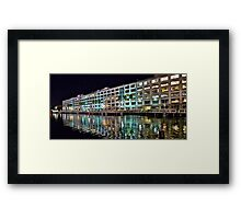 Night Reflection, San Francisco, CA. Framed Print