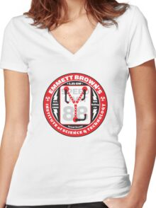 Emmett Brown's Institute of Science & Technology Women's Fitted V-Neck T-Shirt