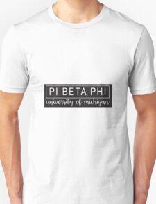 Pi Beta Phi University of Michigan Unisex T-Shirt