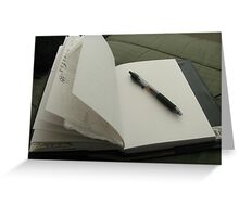 Blank Page (Journal Series) Greeting Card