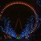 London Eye Night by Ken Scarboro