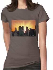 Sunset in New York City Womens Fitted T-Shirt