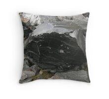 Obsidian Up Close Throw Pillow