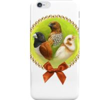 Munia finches realistic painting iPhone Case/Skin