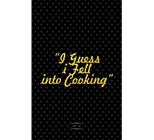 """I Guess i Fell into Cooking"" - BOBBY FLAY Photographic Print"