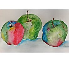 Three colourful apples Photographic Print