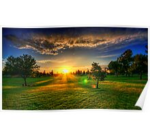 Sunset At The Park II Poster