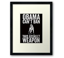 OBAMA CAN'T BAN THIS ASSAULT WEAPON Framed Print