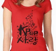 KPOP SARANG Women's Fitted Scoop T-Shirt