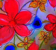 Bright, lovely flowers by Angela Gannicott