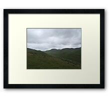 Above the River Valley Framed Print