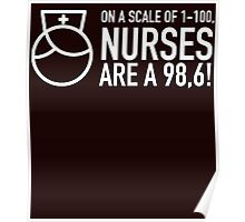 on a scale of 1-100 nurses are a 98.6 Poster