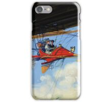 Futuristic air travel Vintage Poster iPhone Case/Skin