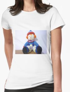Hand knitted Clowns Womens Fitted T-Shirt