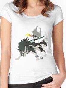 Wolf Link and Midna - Vector Art Women's Fitted Scoop T-Shirt