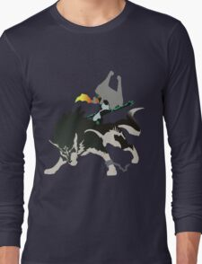 Wolf Link and Midna - Vector Art Long Sleeve T-Shirt