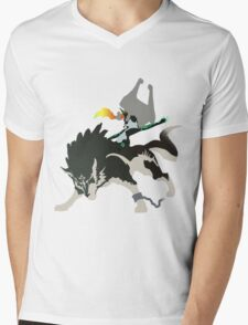 Wolf Link and Midna - Vector Art Mens V-Neck T-Shirt