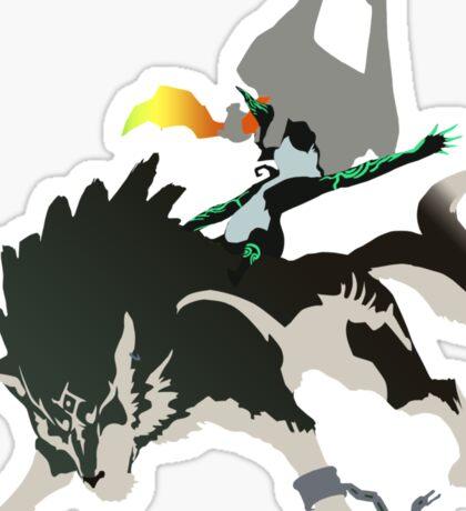 Wolf Link and Midna - Vector Art Sticker
