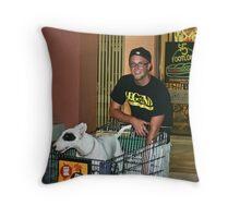 I like to shop. Throw Pillow