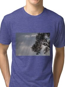 cloudy sky on the hilly Tri-blend T-Shirt