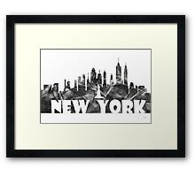 NEW YORK SKYLINE - BG2 Framed Print