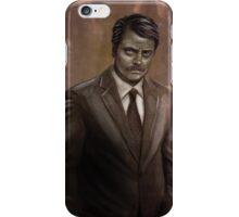 I Was Born Ready; I'm Ron F#cking Swanson iPhone Case/Skin