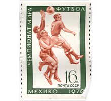 The Soviet Union 1970 CPA 3871 stamp Football Mexico City Mexico USSR Poster