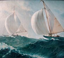 """Sailing Regatta"". The copy  from picture of Kalnins by Alla Melnichenko"