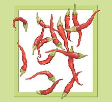 Red Hot Chillies green by mrana