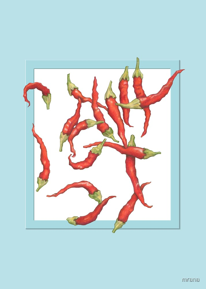 Red Hot Chillies blue by Mariana Musa