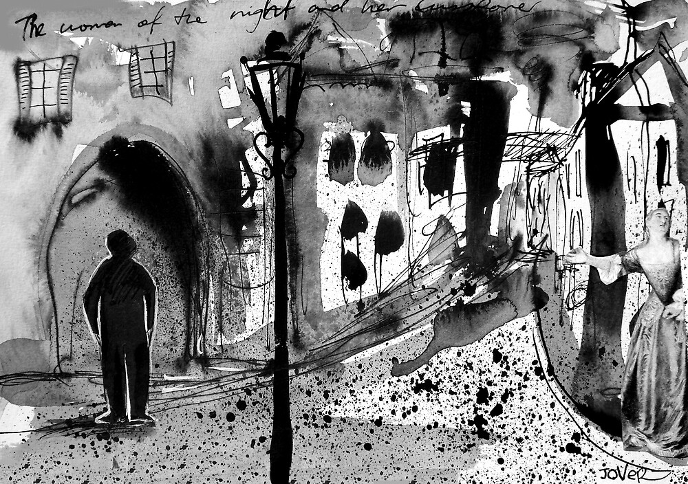 mysterious street scenario by Loui  Jover